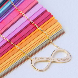 Personalised Infinity Chain Necklace - gifts for mothers