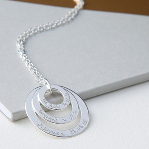 Personalised Eternity Trio Necklace - necklaces & pendants