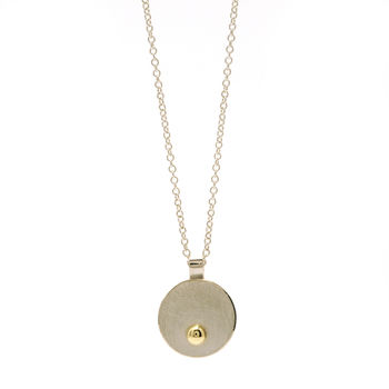 Silver With Embedded Gold Ball Mini Pendant