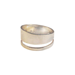 Asymmetrical Double Row Ring Silver / Gold