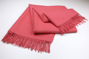 The Alpaca Co. Coral Throw