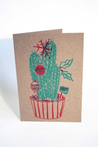 Festive Houseplant Christmas Card - cards