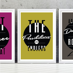 'Endless Possibilities' Typography Print