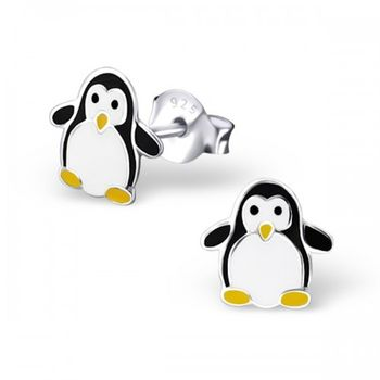 Monty Sterling Silver Penguin Earrings