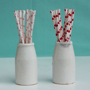 Pack Of 25 Heart Straws - little extras