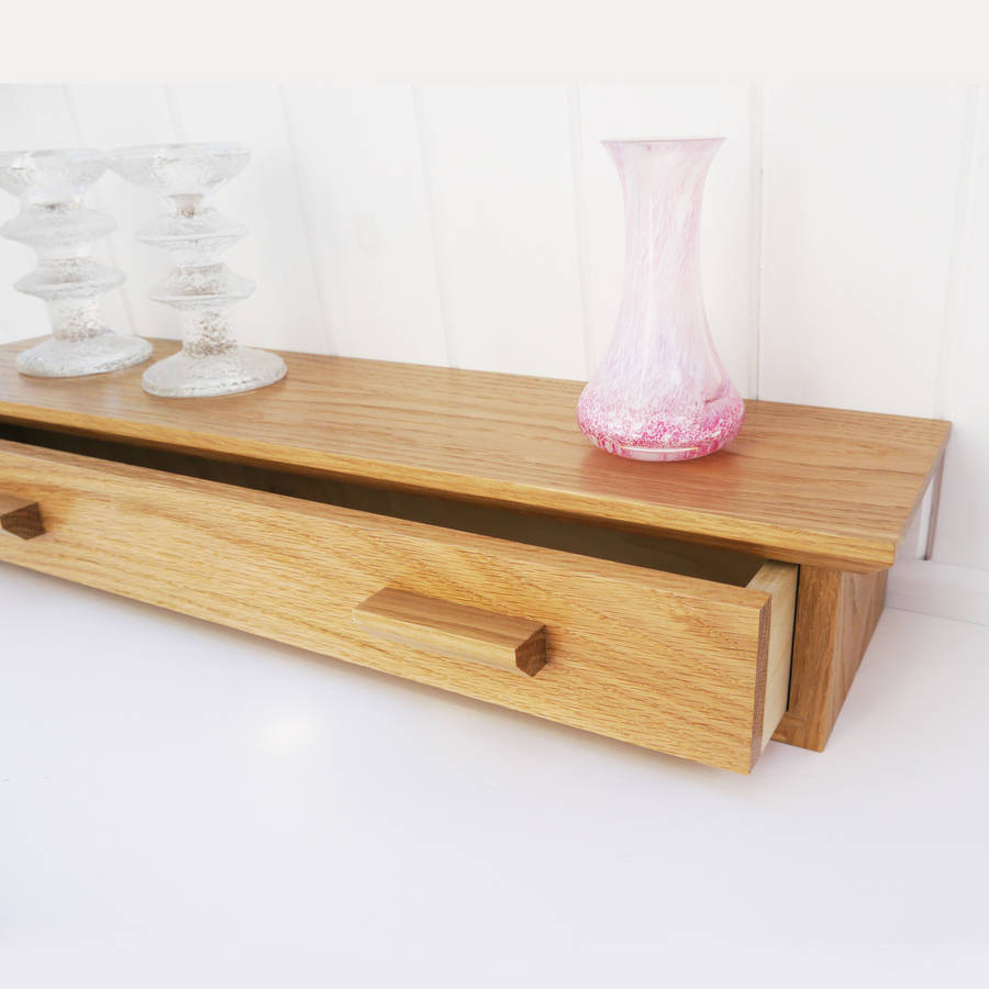 Oak Shelf With Drawer