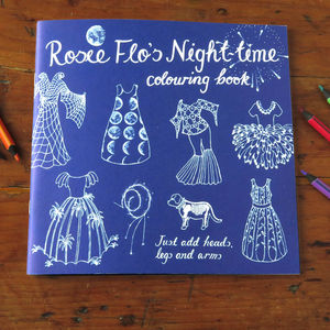 Rosie Flo's Night Time Colouring Book - toys & games