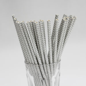 Pack Of 25 Chevron Paper Straws - table decorations