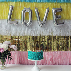 16 Inch Letter Balloon In Gold, Silver Or Pink - room decorations