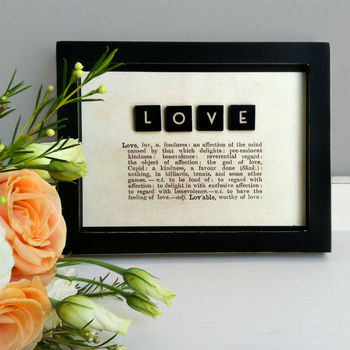 Vintage Style Definition Of 'Love' Picture Sale