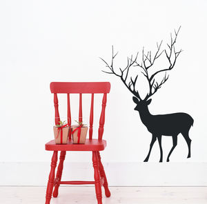 Christmas Deer Wall Sticker Decoration - wall stickers