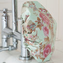 Shower Cap In Blue Rose Print