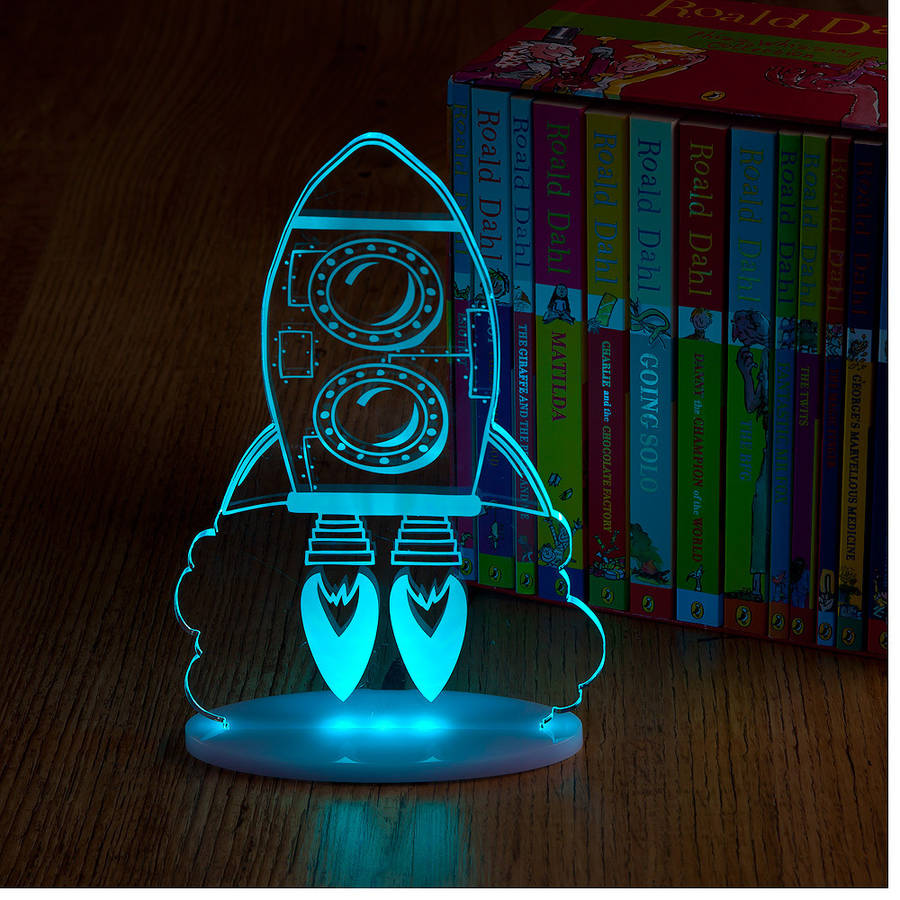 boys rocket night light by spotted