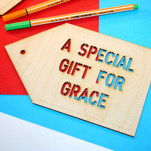 Giant Personalised Wooden Large Gift Tag