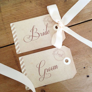 'Fly Away With Me' Name Tag - place card holders