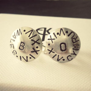 Personalised Dome Cufflinks - for your other half