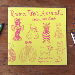 Rosie Flo's Animals Colouring Book - toys & games