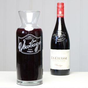 Personalised Family Wine Carafe - dining room