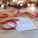 gift tags with ribbon