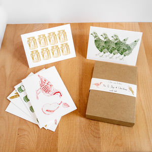 12 Days Of Christmas Card Box Set - cards & wrap