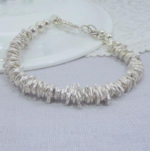 Silver Nugget Bracelet - jewellery for women