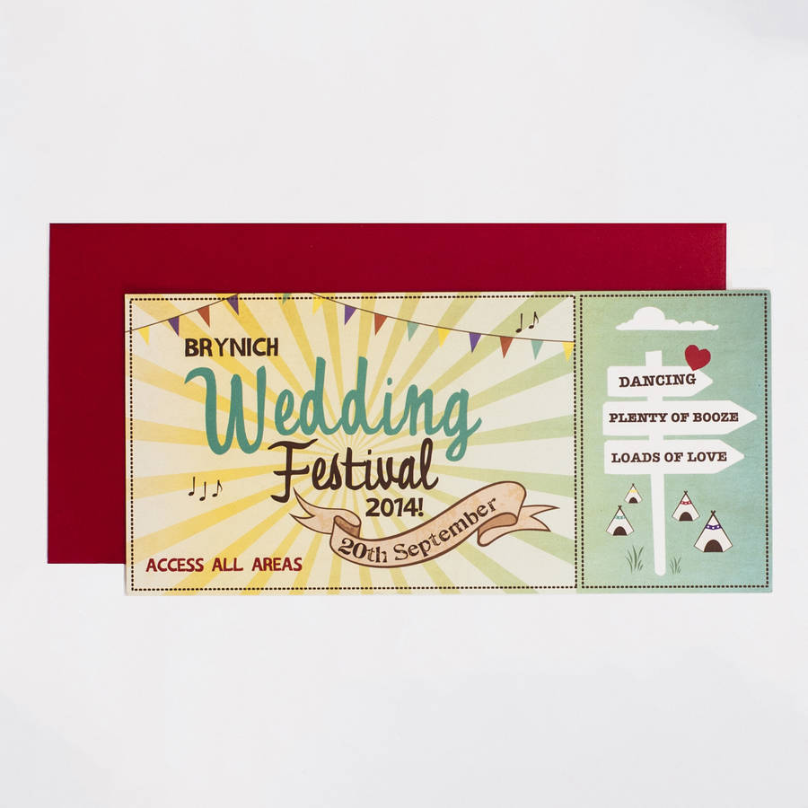 wedding festival wedding invitation by something kinda cute ...