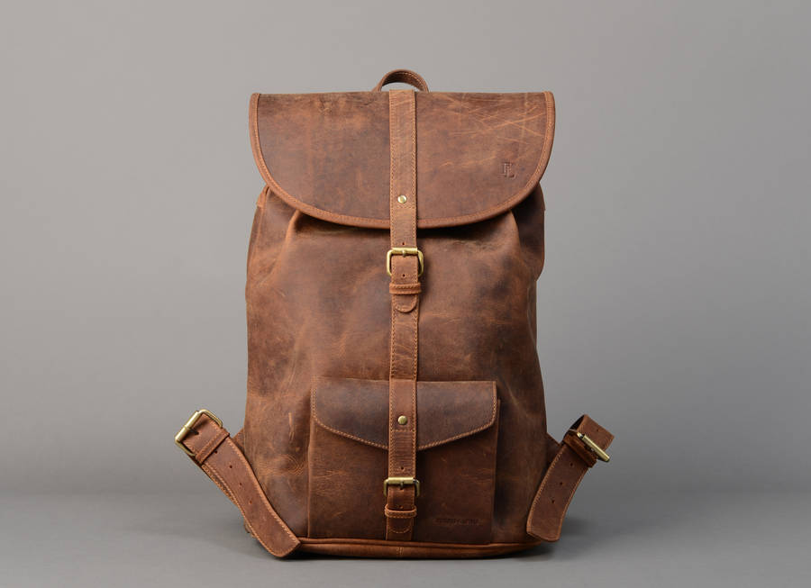 lincon backpack in full leather by forbes & lewis ...