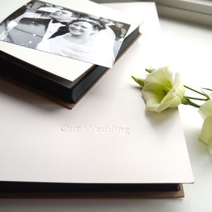Blackboard Personalised Leather Wedding Album - albums & guest books