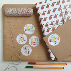 'Happy Post' Post And Parcel Stickers To Make You Smile - ribbon & wrap
