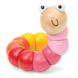 Wooden Bendy Catepillar Toy