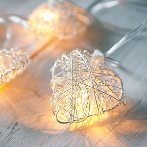 Heart Battery Fairy Lights - christmas decorations