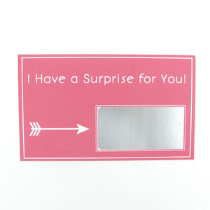 Personalised Surprise Scratch Card - cards, ribbon & wrap