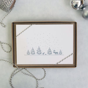 A Winter Forest Letterpress Card
