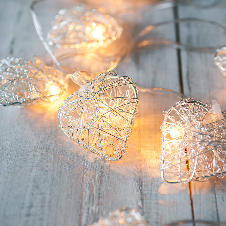 Heart Battery Fairy Lights By Lights4fun
