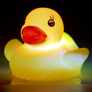 Colour Changing Light Up Mood Bath Duck - bath toys