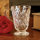 Glass Footed Diamond Mugs