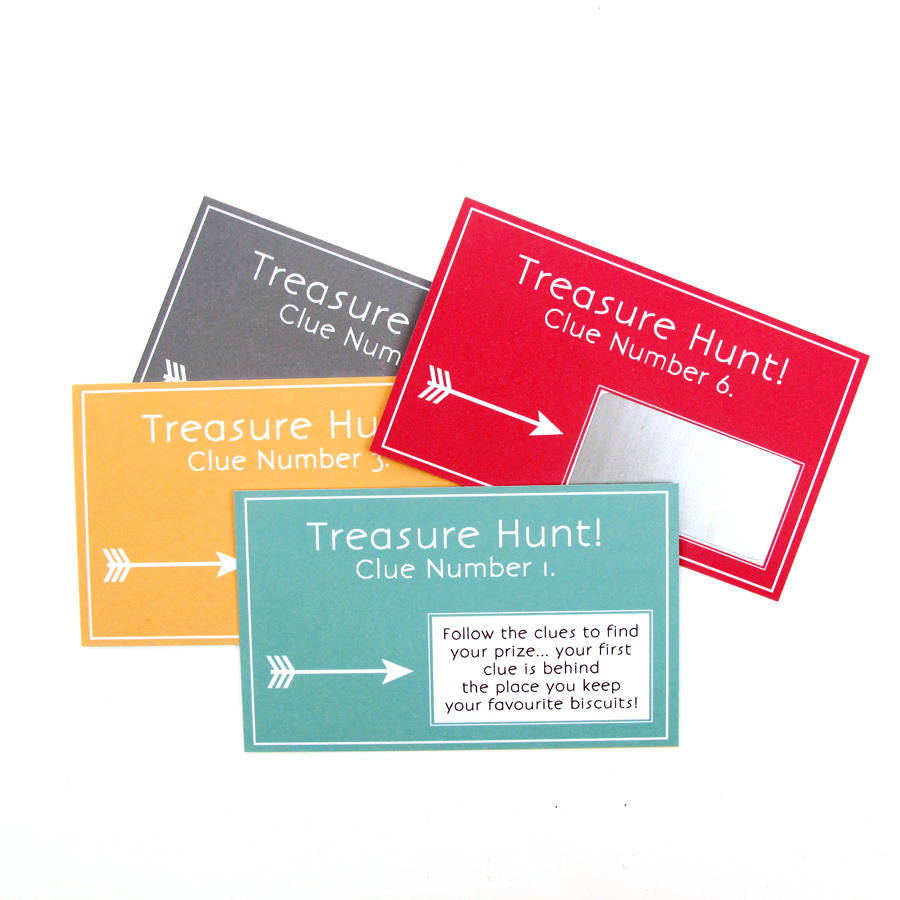 treasure hunt cards