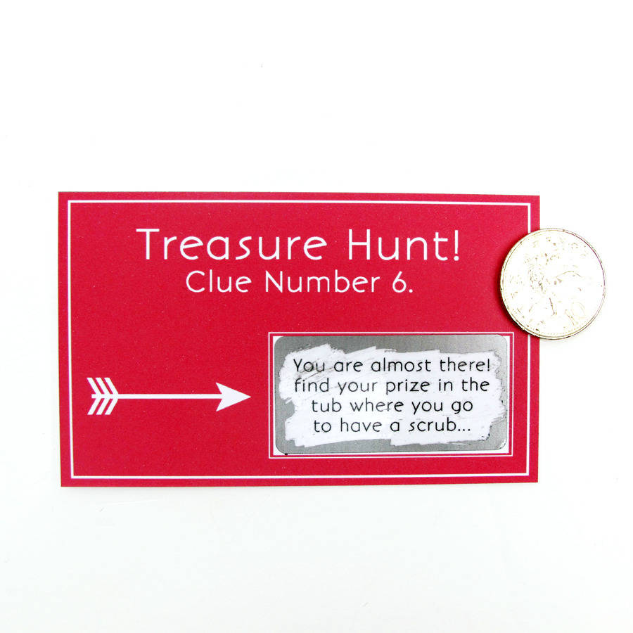 Personalised Treasure Hunt Scratch Card Game By Sarah