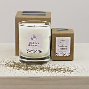 Large Dandelion And Burdock Scented Candle