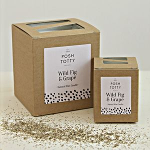 Small Wild Fig And Grape Scented Candle - home accessories