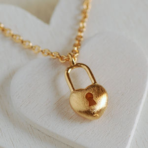 Heart Padlock Necklace - necklaces