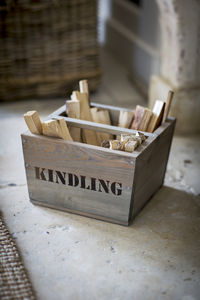 Kindling Box - fireplace accessories