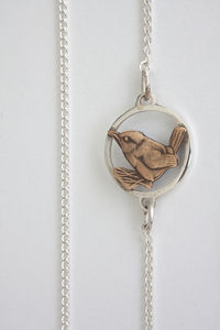 Silver Wren Long Necklace - necklaces & pendants