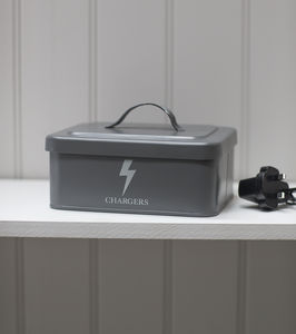 Charger Box In Charcoal