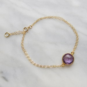 Gemstone And Gold Chain Bracelet - women's jewellery