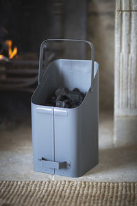 Coal Skuttle In Charcoal - fireplace accessories