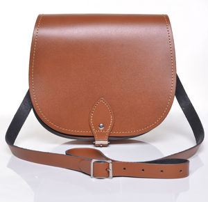 Leather Saddlebag - cross-body bags
