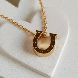 Lucky Horseshoe Necklace - necklaces