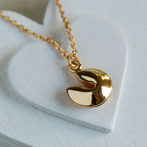 Fortune Cookie Necklace - lucky charm jewellery
