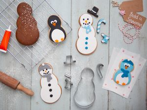 Bake It Yourself Snowman And Penguin Biscuit Kit